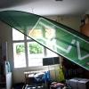 Zászlók beltérben, dekoráció